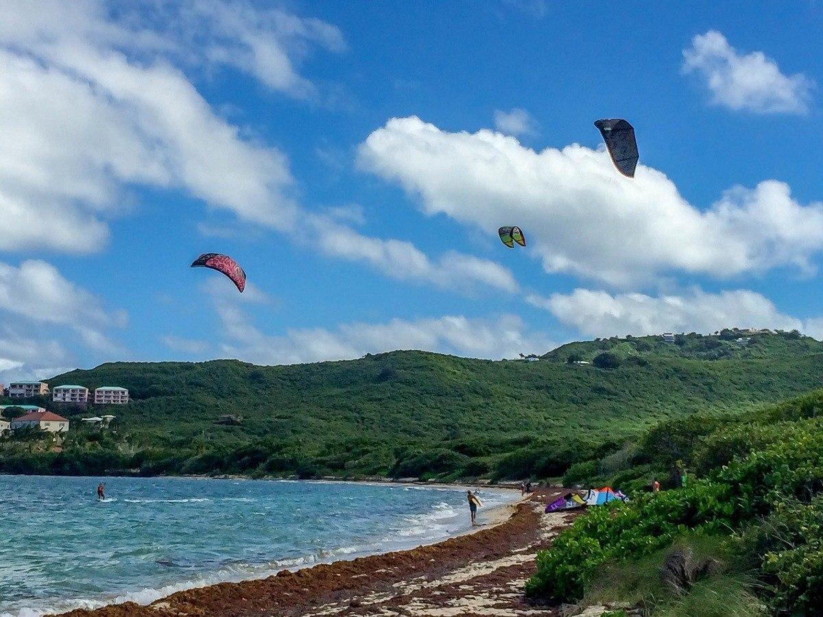 Kitesurfing on St Croix