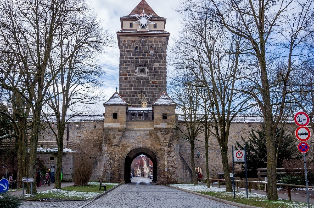 The Galen Gate into the Rothenburg Old Town