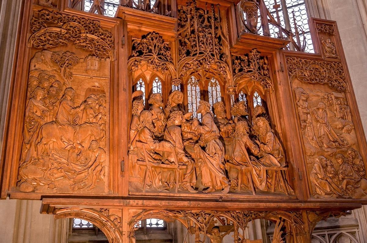 The Tilman Riemenschneider altar at St. Jacob's Church in Rothenburg ob der Tauber