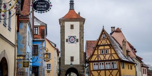 This intersection in Rothenburg ob der Tauber is one of the most photographed spots in all of Germany. Extreme poverty for hundreds of years has preserved the town's medieval character.