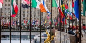 Rockefeller Center Plaza in New York