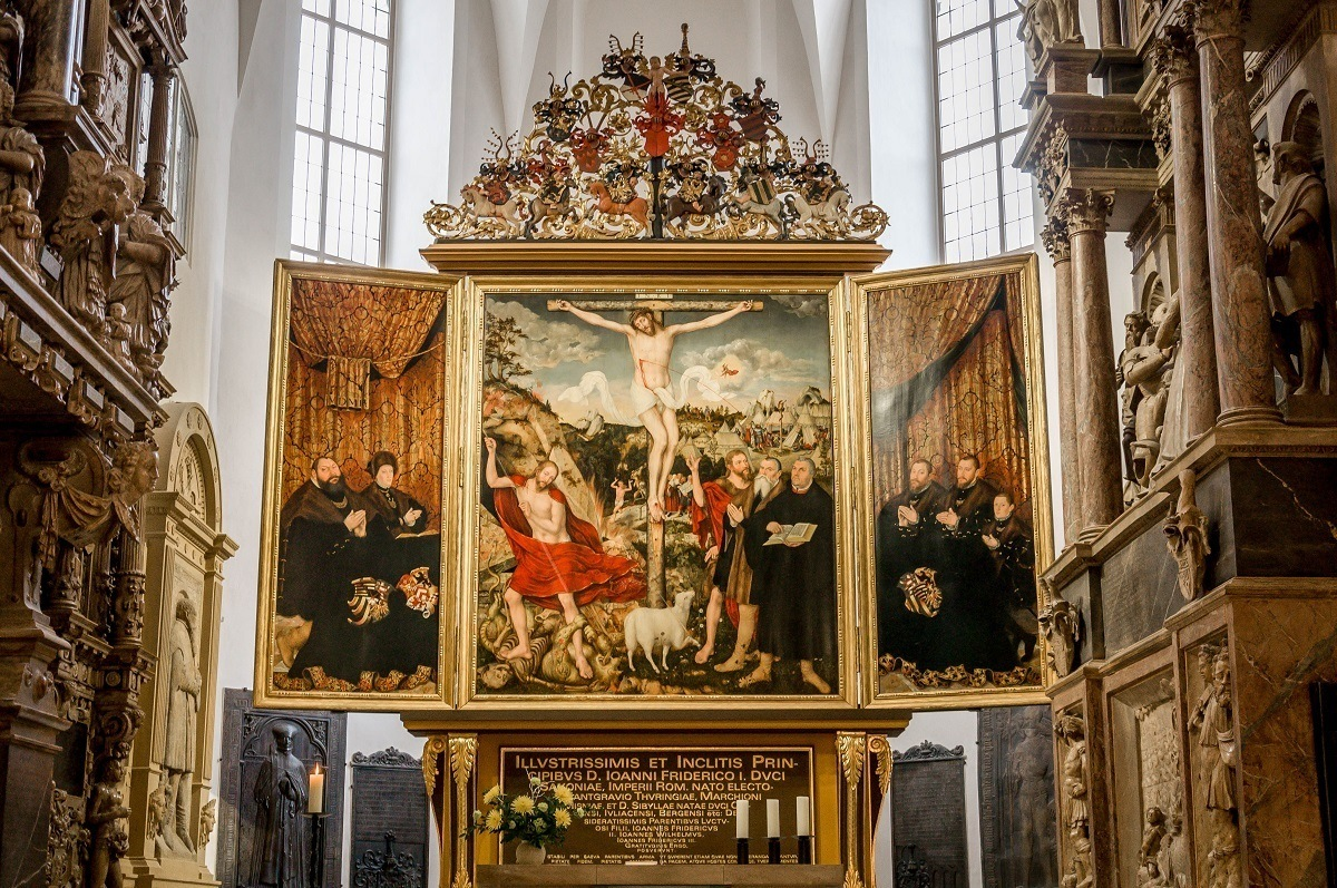 The Cranach Altar at the Church of St. Peter and St. Paul in Weimar