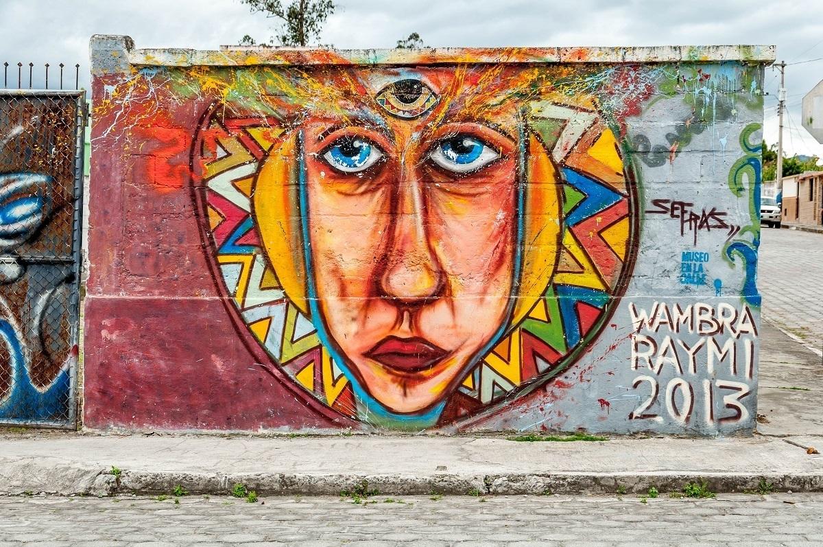 The Third Eye mural in Cotacachi by Wambra Raymi