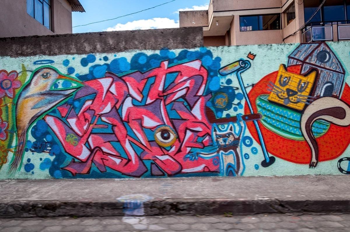 The Hummingbird mural in Machachi