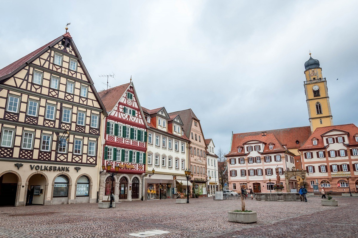 The Market Square in Bad Mergentheim, Germany
