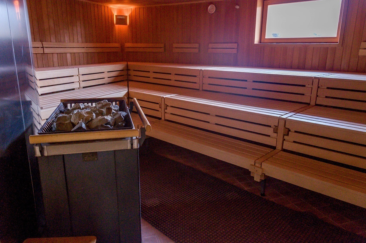 The sauna's inside the Keltenbad SOLE Saunaland