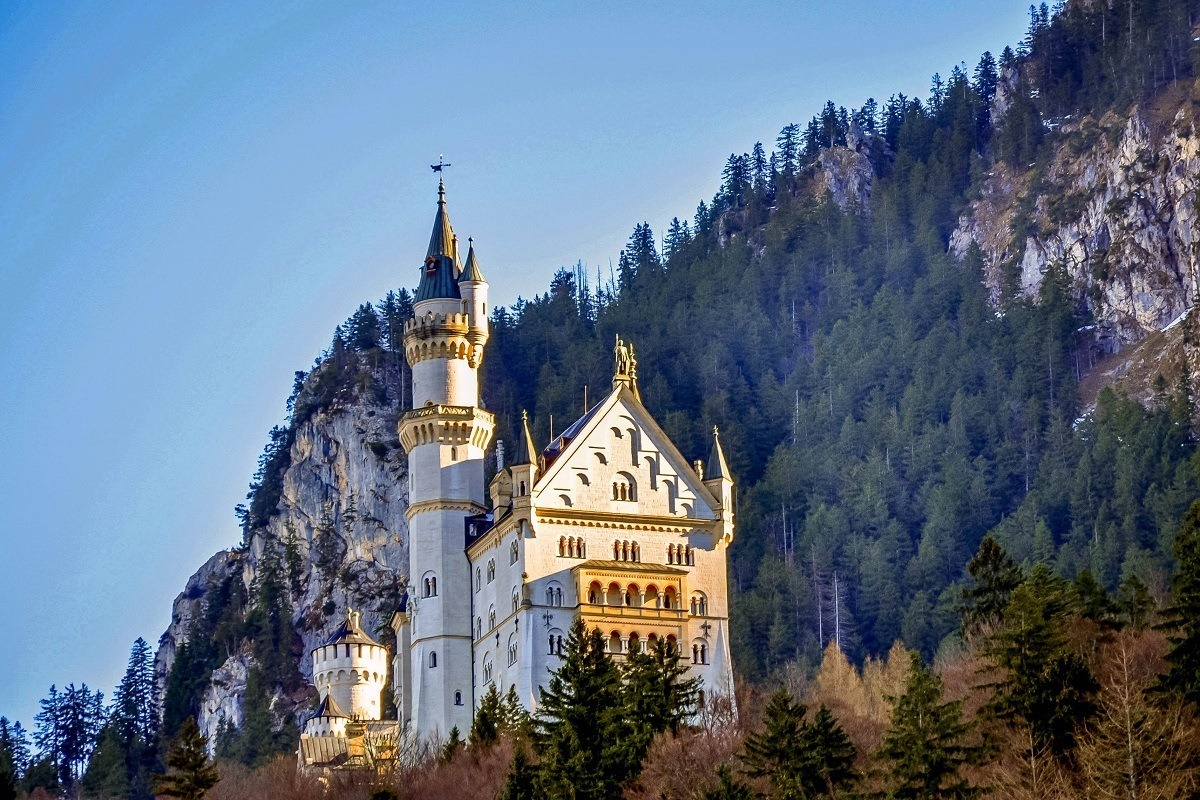 The Neuschwanstein Castle at the Southern end of Germany's Romantic Road
