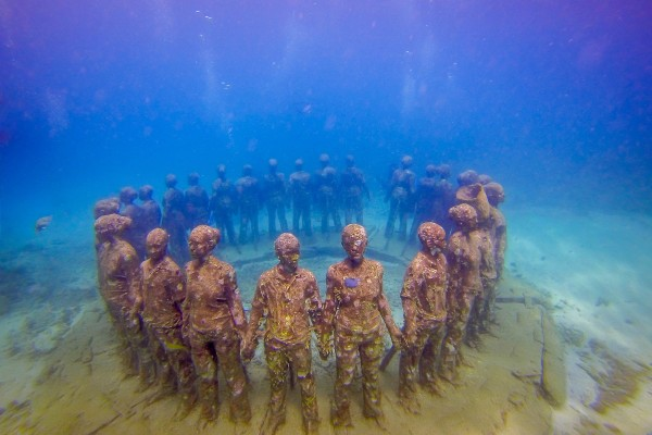 The Vicissitudes at the Grenada Underwater Sculpture Park.