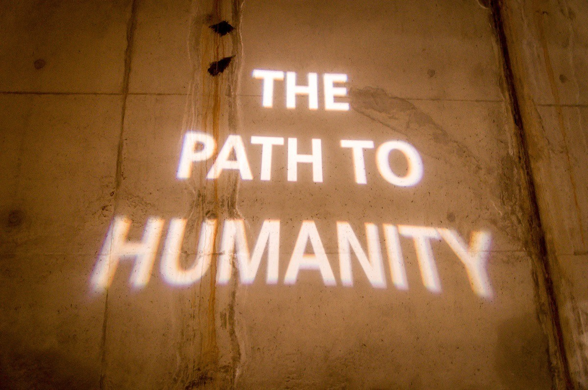 The Path to Humanity sign at the Maropeng Visitors Center in the Cradle of Humankind
