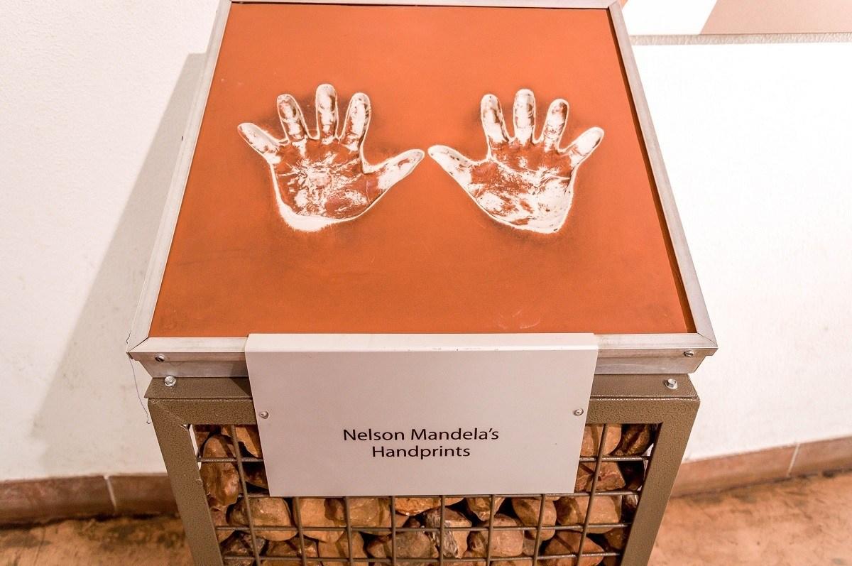 Nelson Mandela's Handprints