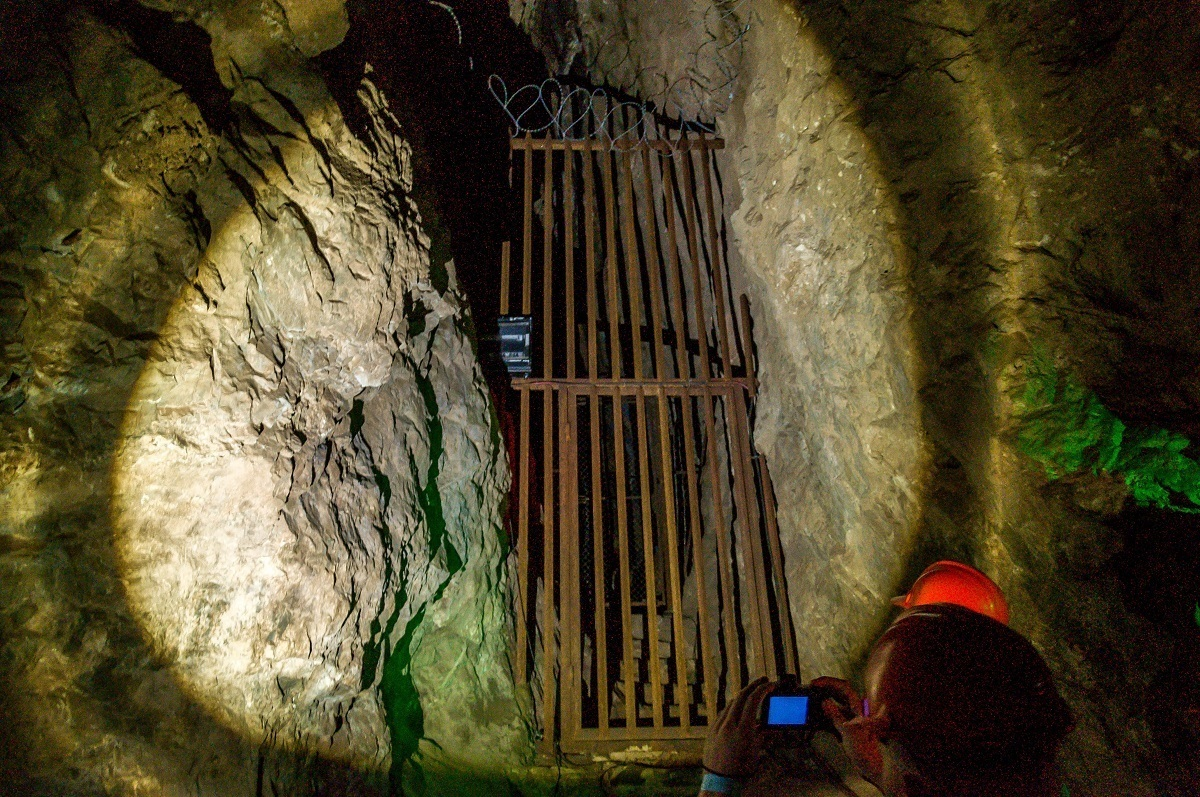 """""""Little Foot"""" excavation site in the Sterkfontein Caves"""