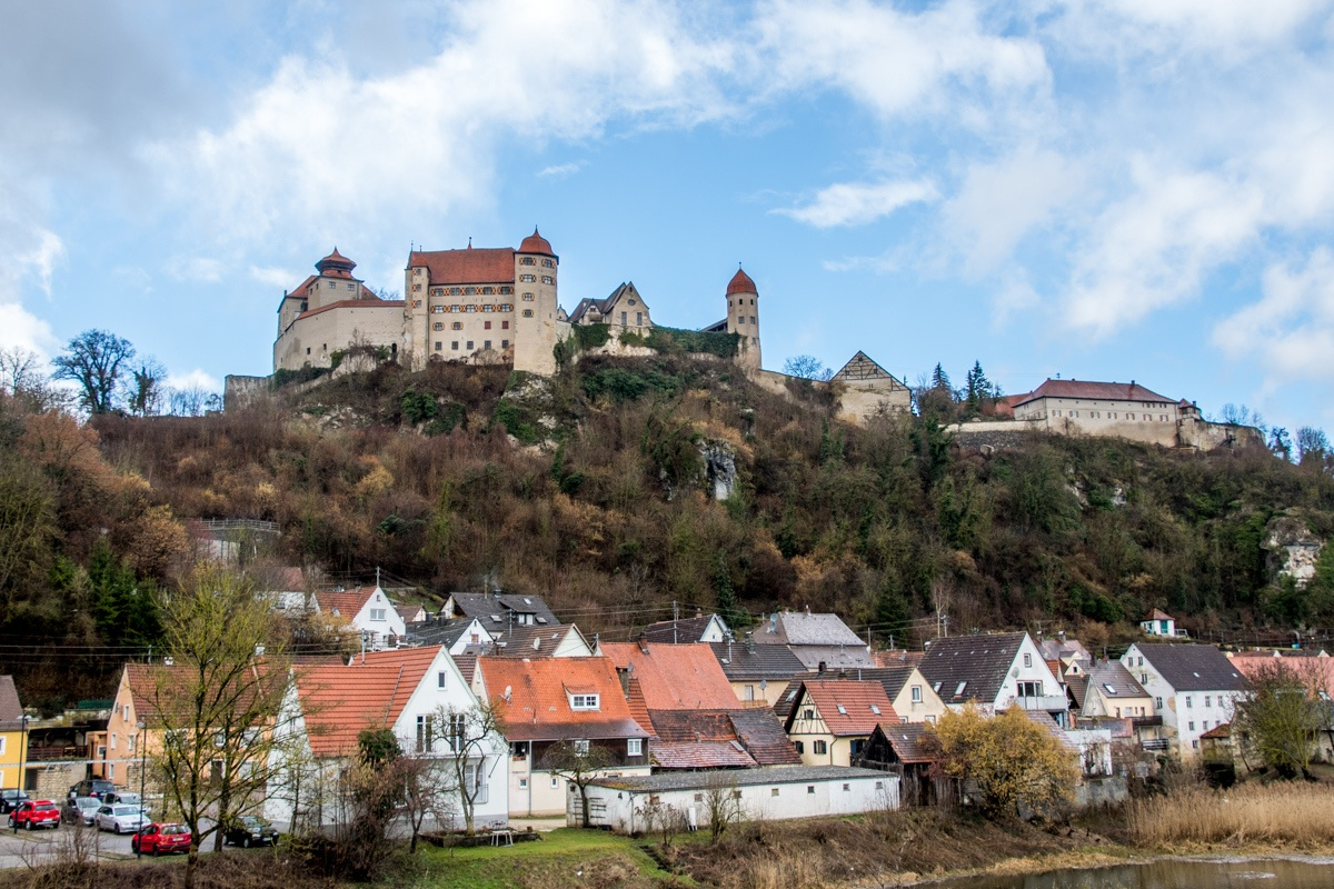 Harburg Castle from the river below
