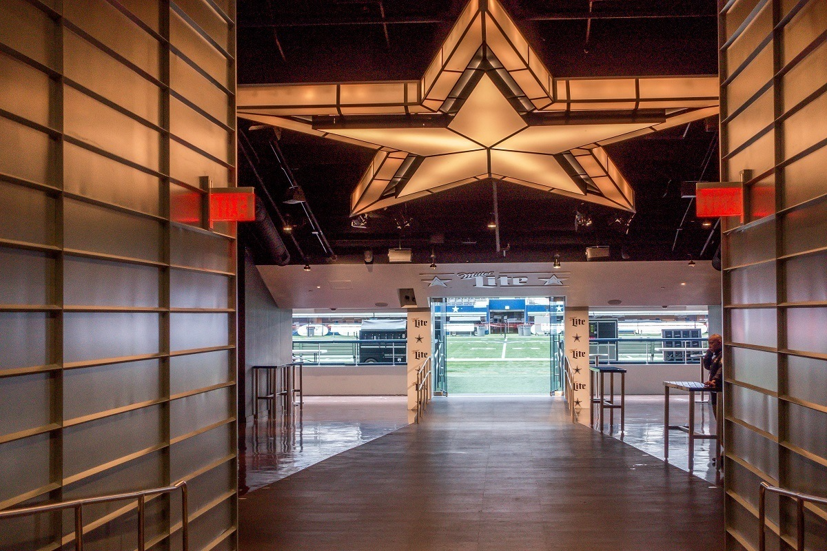 Players' entrance to the football field
