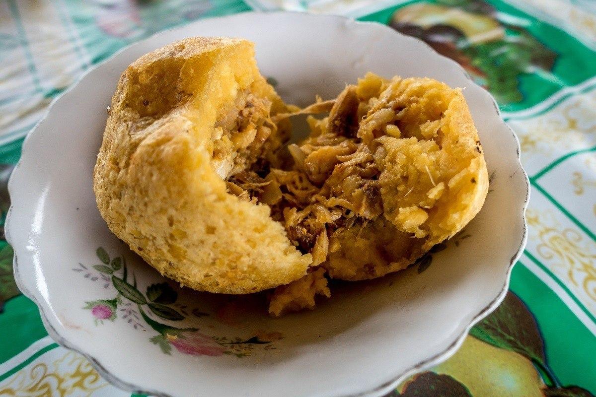 Bolon de Verde, ball of plantain stuffed with meat