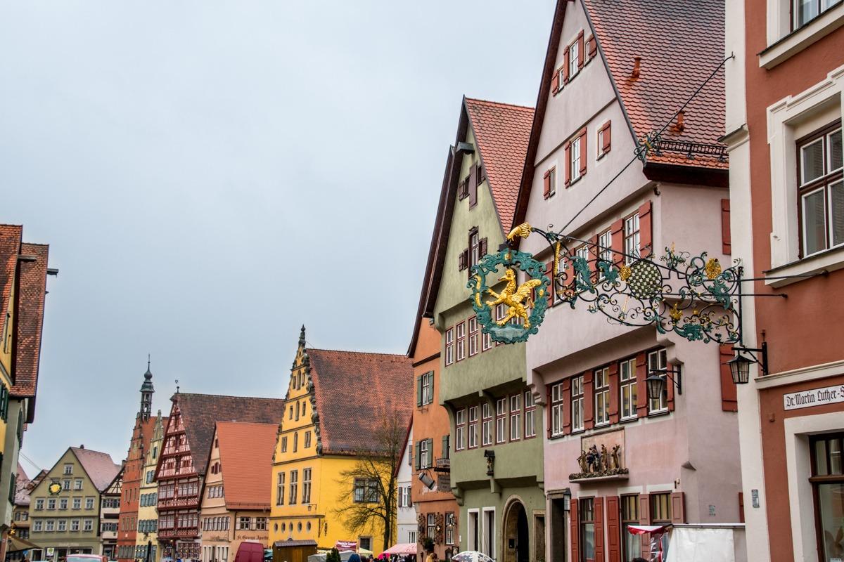 Charming half-timbered buildings in Dinkelsbühl