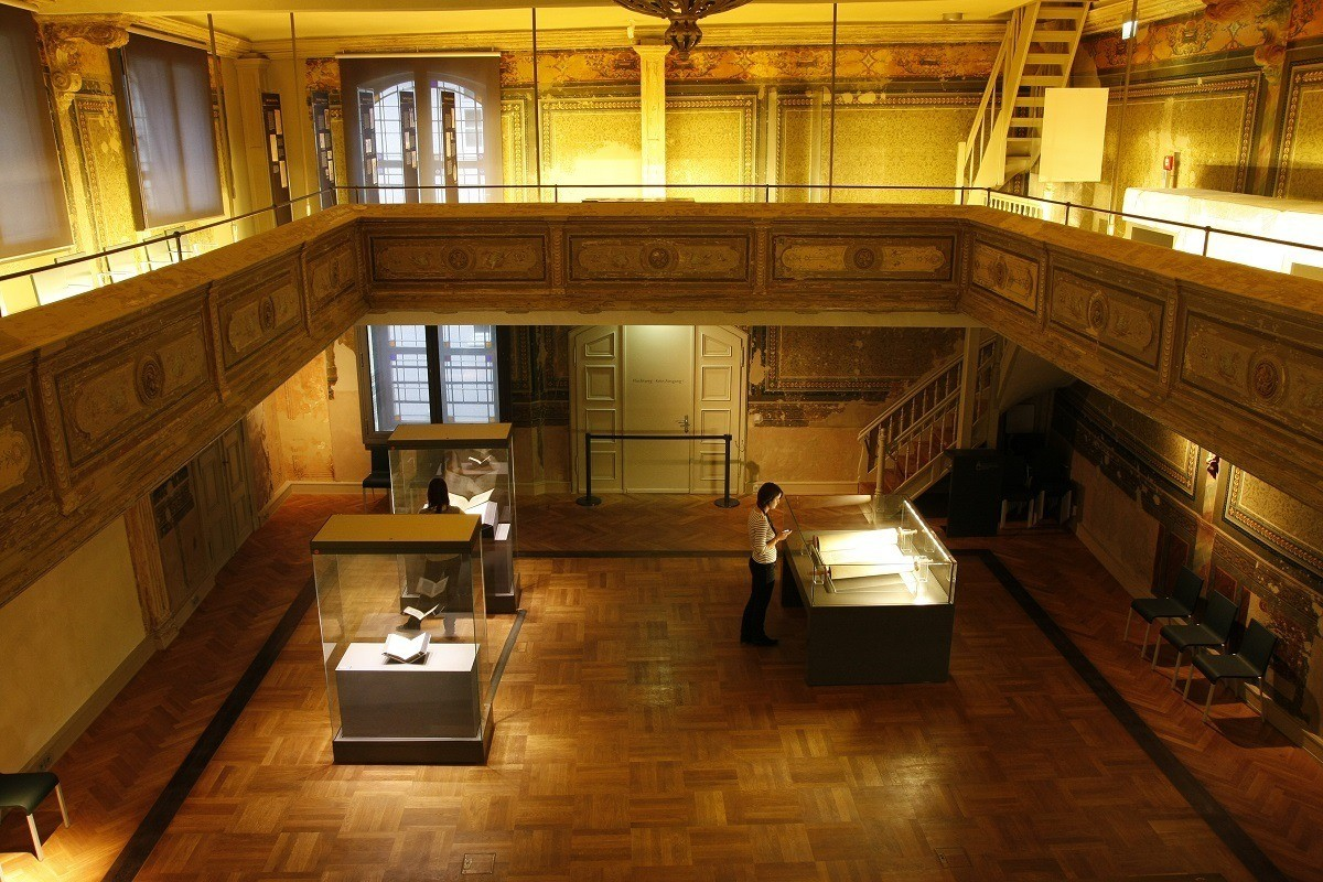 Inside the old Erfurt synagogue, now a museum to Ashkenazi Jewish life in Germany
