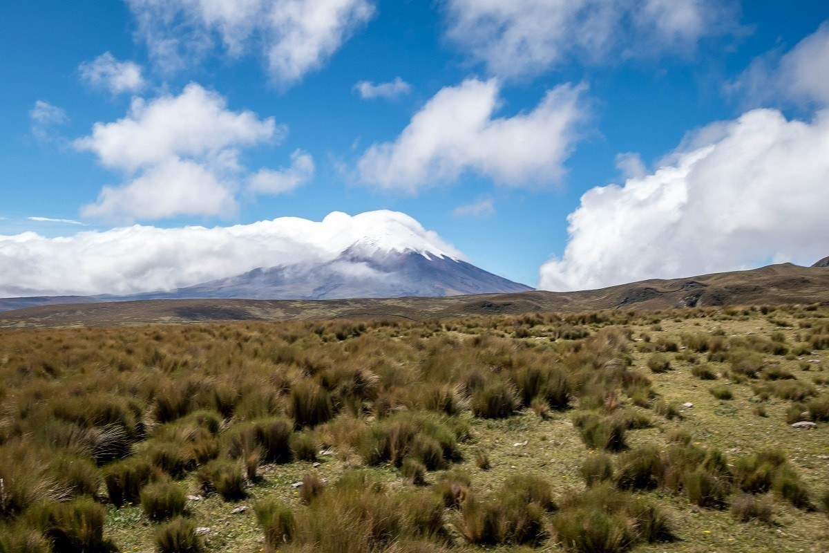 View of Cotopaxi in the clouds