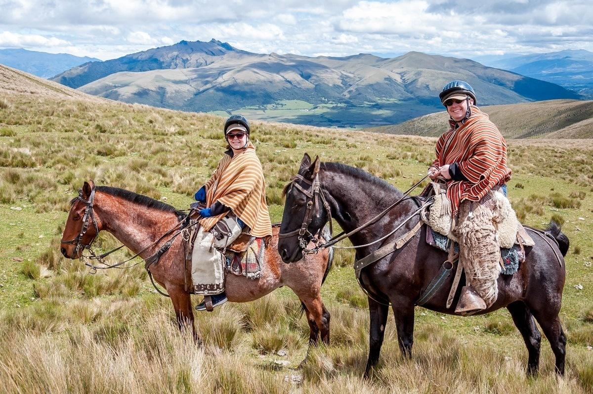 Horseback riding in Ecuador