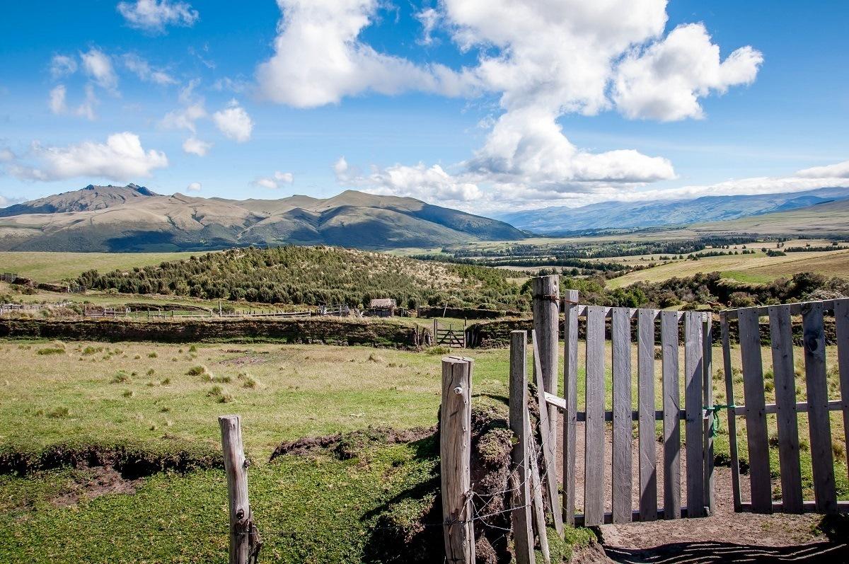 The gates of the Hacienda El Porvenir