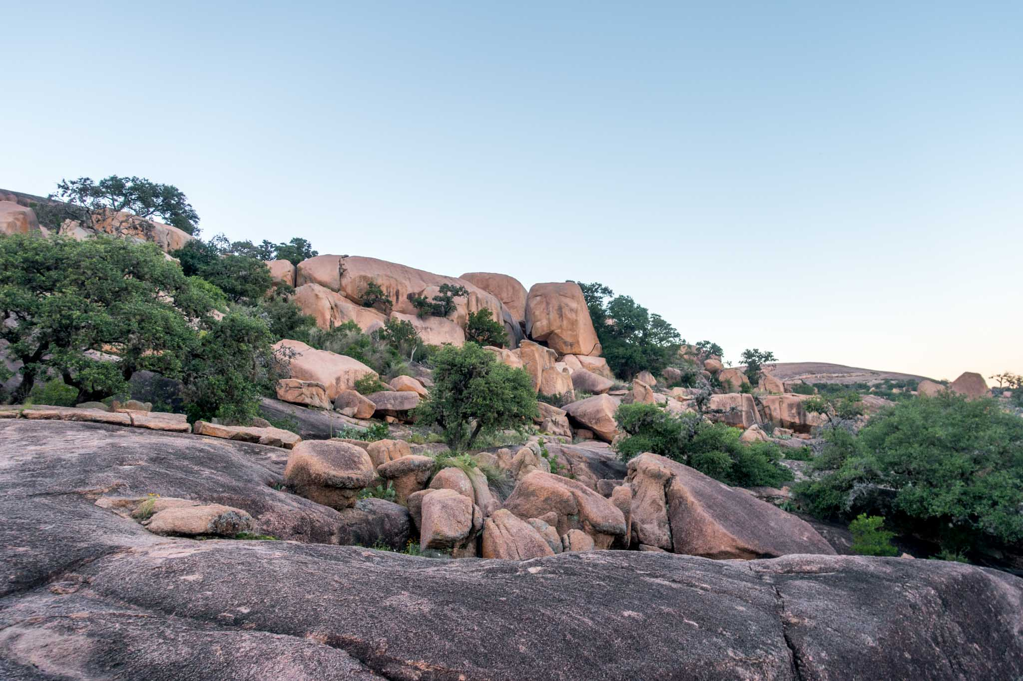 Rock formations in Enchanted Rocks State Park