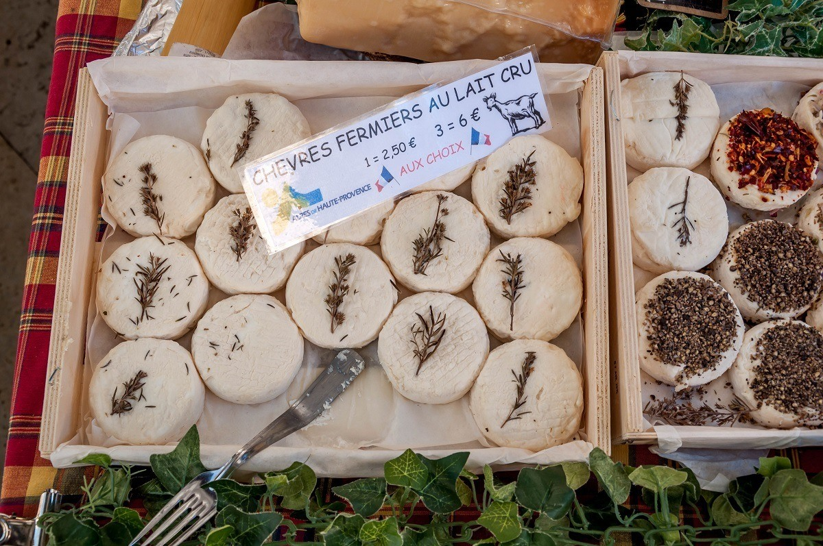 Goat cheese topped with herbs for sale
