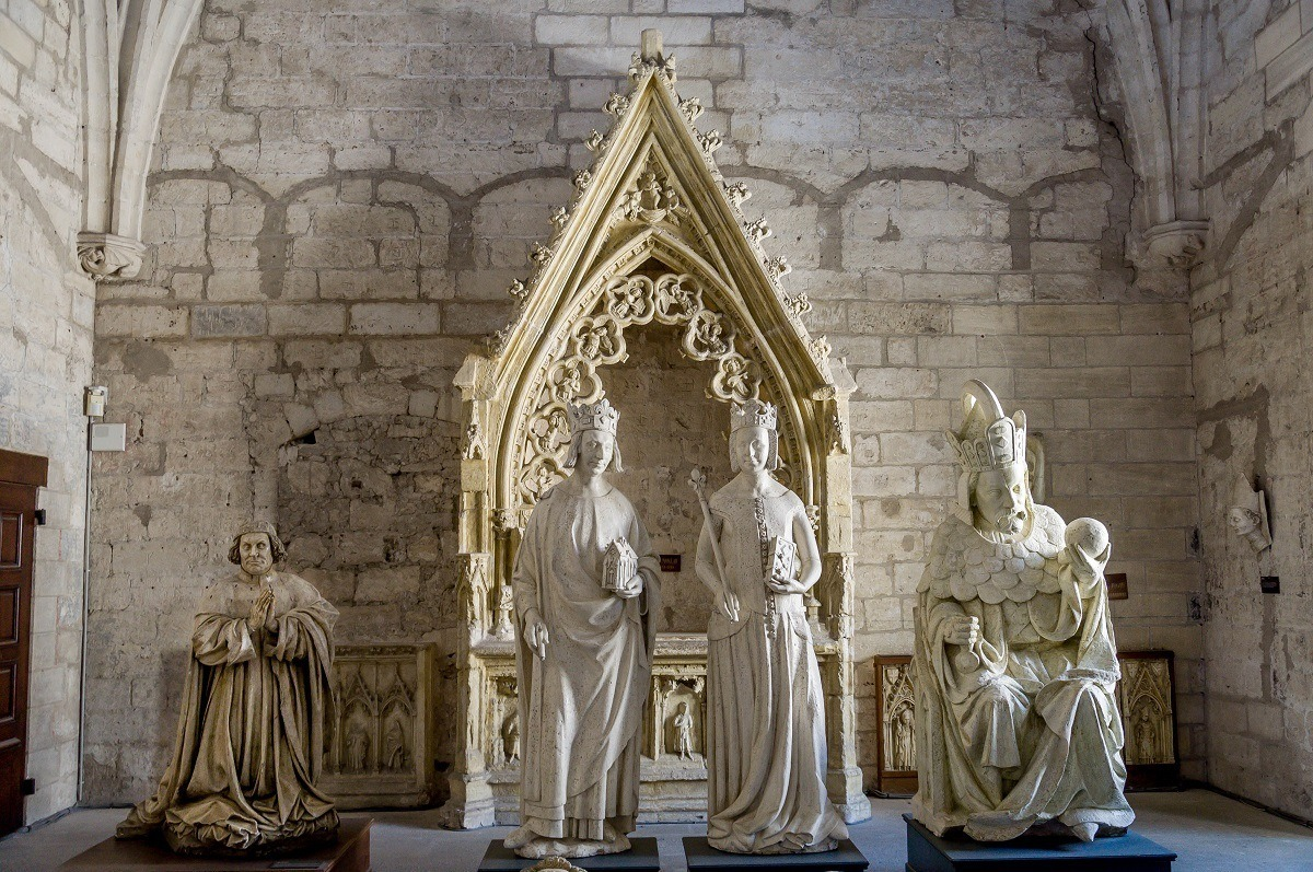 Effigies of the Avignon popes in the North Sacristy of the palace