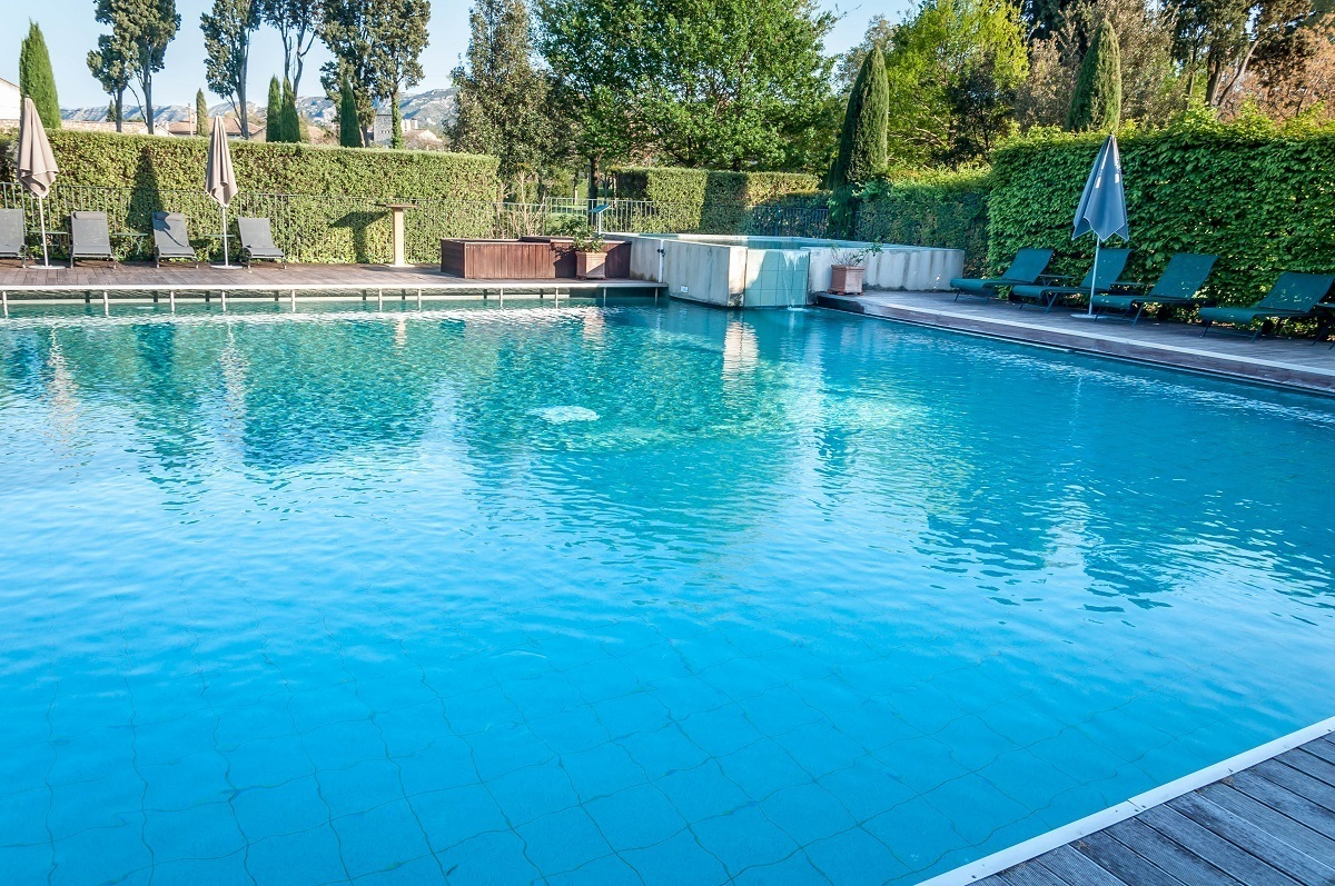 Outdoor pool at the Hotel de l'Image St Remy