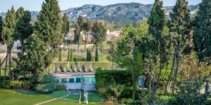 The backyard area of the Hotel de l'Image in Saint-Remy-de-Provence, France