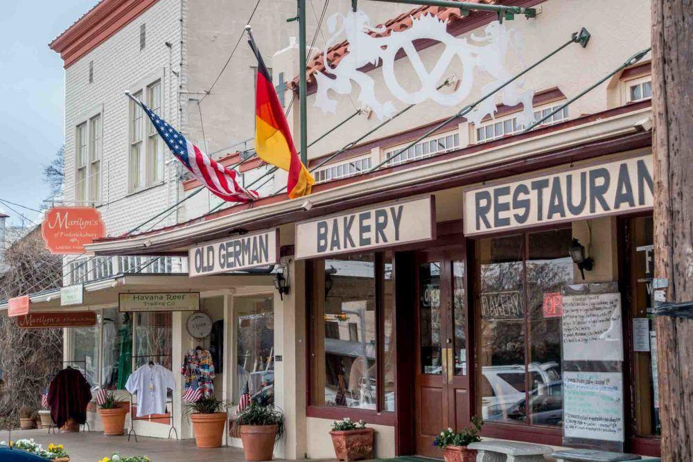 German bakery on Main Street in Fredericksburg TX