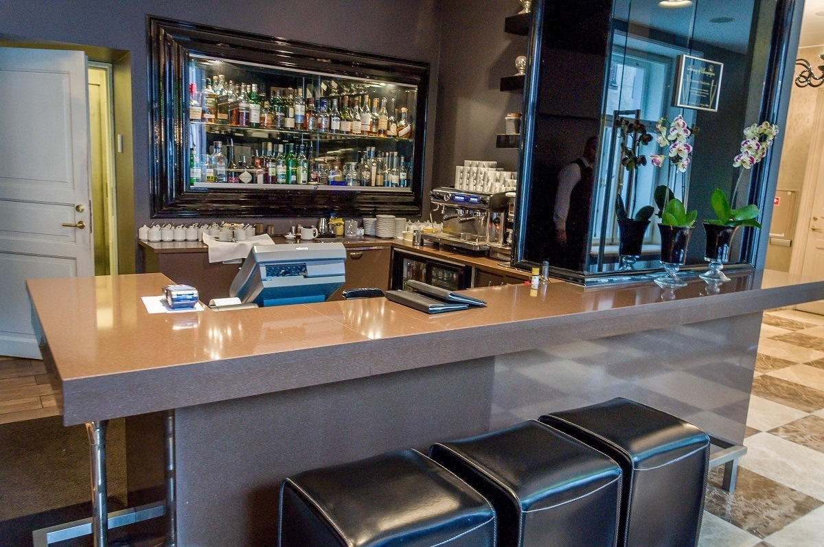 Lobby bar of the Hotel Telegraaf in Tallinn, Estonia