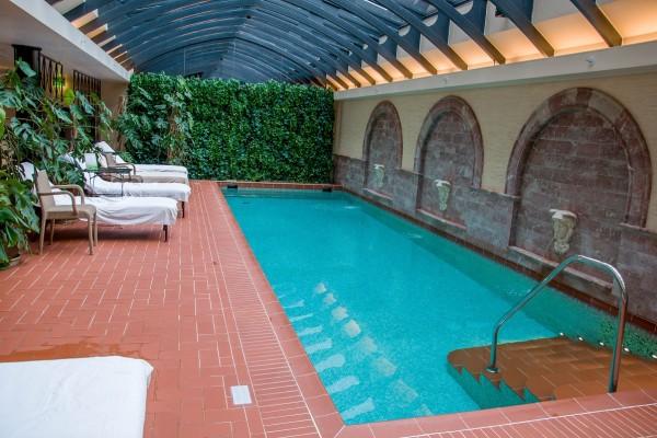 Pool at the Hotel Telegraaf in Tallinn, Estonia