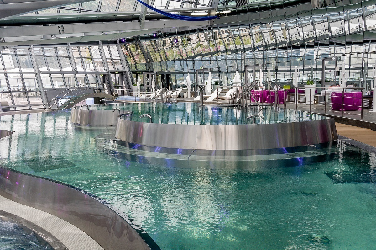 The main lagoon at the INUU spa