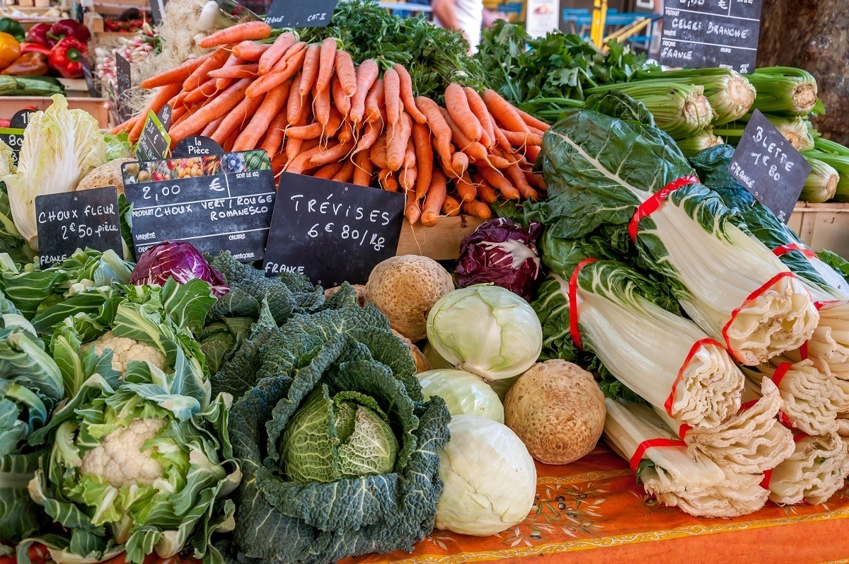 Markets in the South of France provide the best ingredients for Provencal cooking