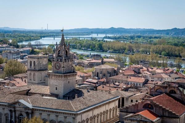 The skyline of Avignon, France