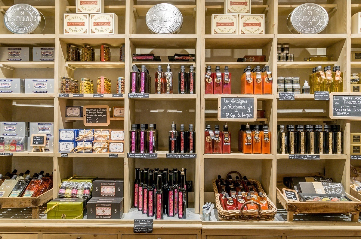 Vinegars, soap, and other souvenirs