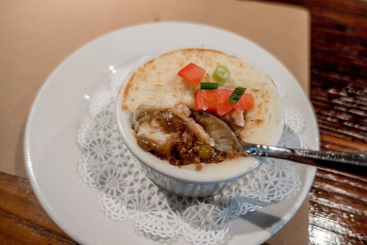 Shepherd's pie at Garyowen Irish Pub, one of the tasty Gettysburg foods