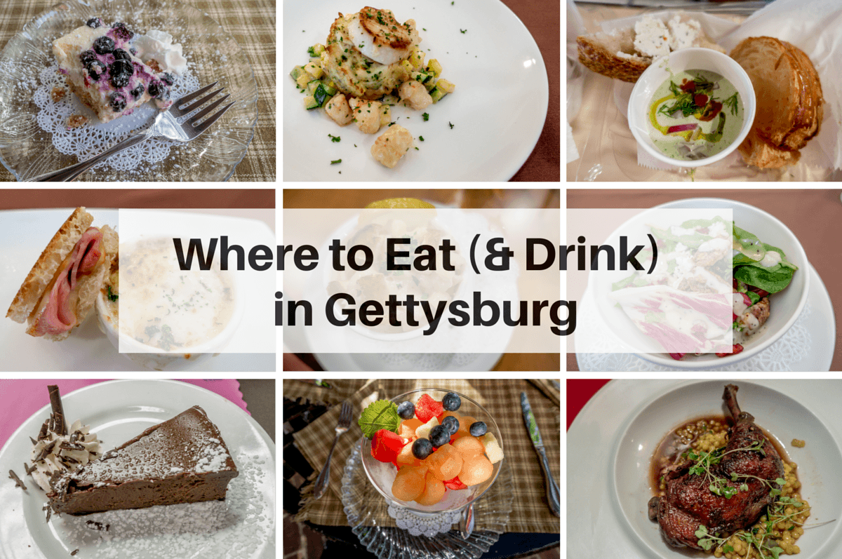 Different options for food in Gettysburg PA
