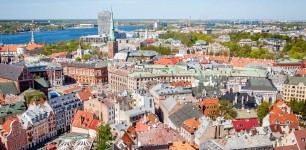 Old Town Riga, Latvia, as seen from St. Peter's