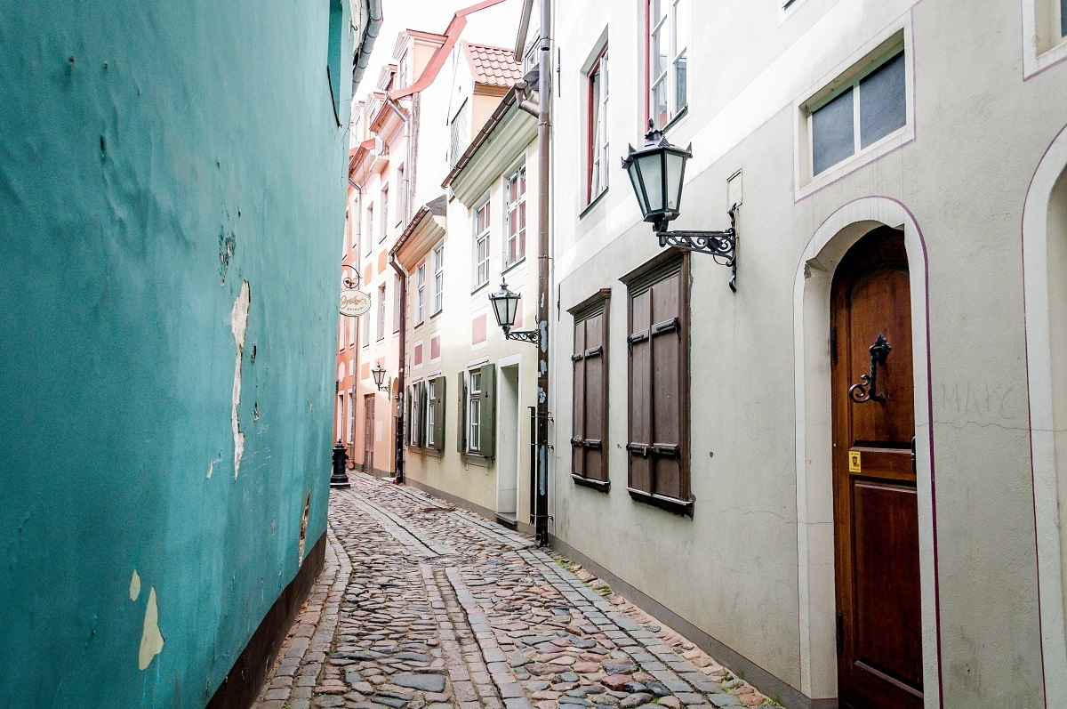 Colorful medieval street