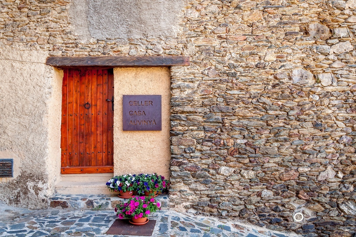 The entrance to Celler Casa Auvinya in Andorra