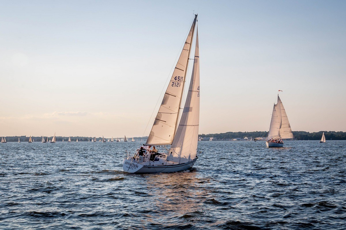 Boats in the Chesapeake Bay in Annapolis, Maryland
