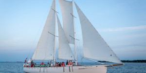 Sailing on the beautiful schooner Woodwind is a great way to spend an afternoon or evening in Annapolis, Maryland. The summer Wednesday night boat races are patricularly fun.