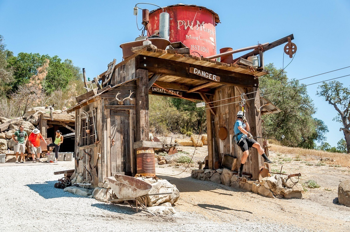 """The """"mining town"""" at the Margarita zip line in Paso Robles"""
