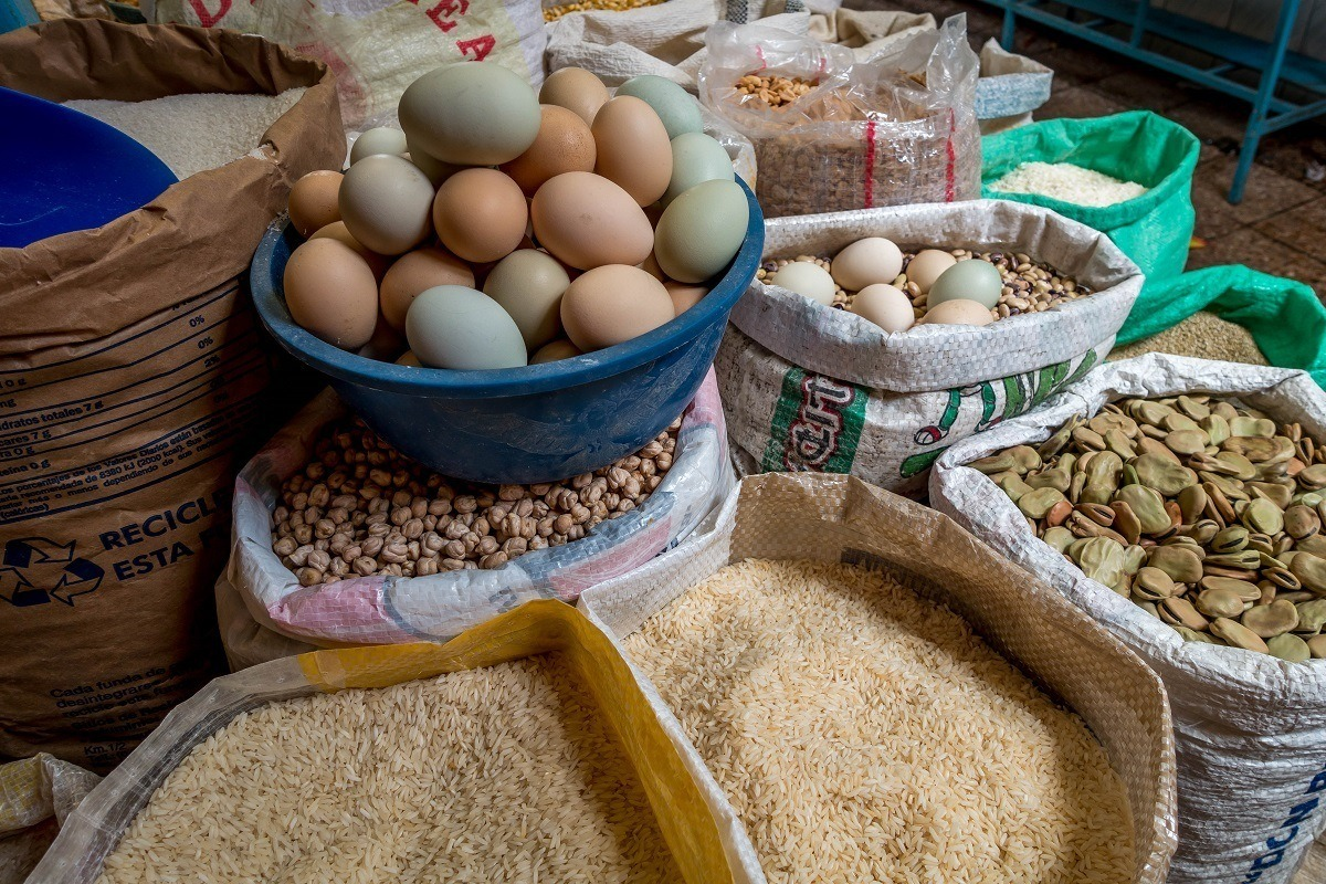 Eggs and grains for sale
