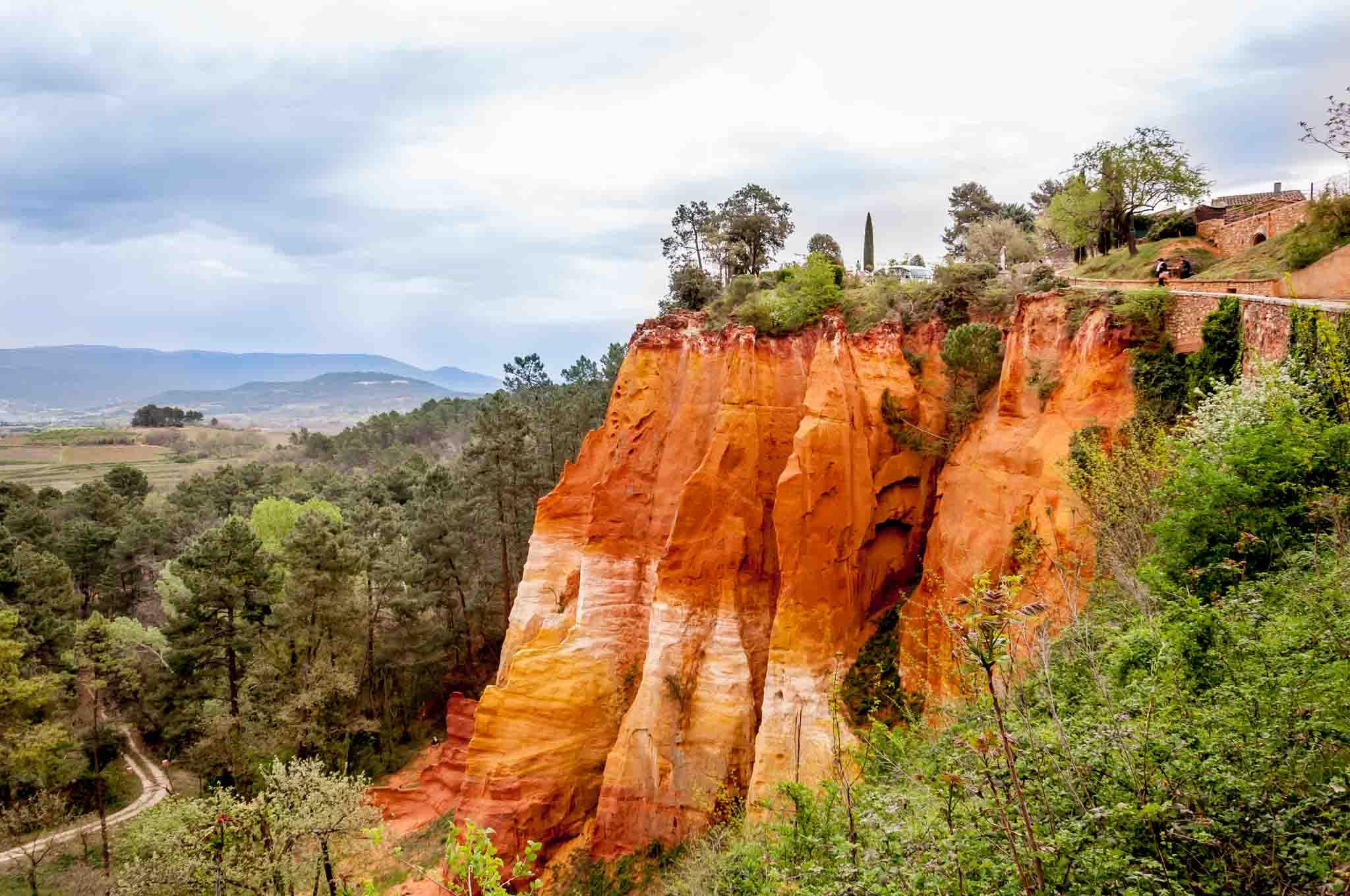 Orange and red ochre cliffs