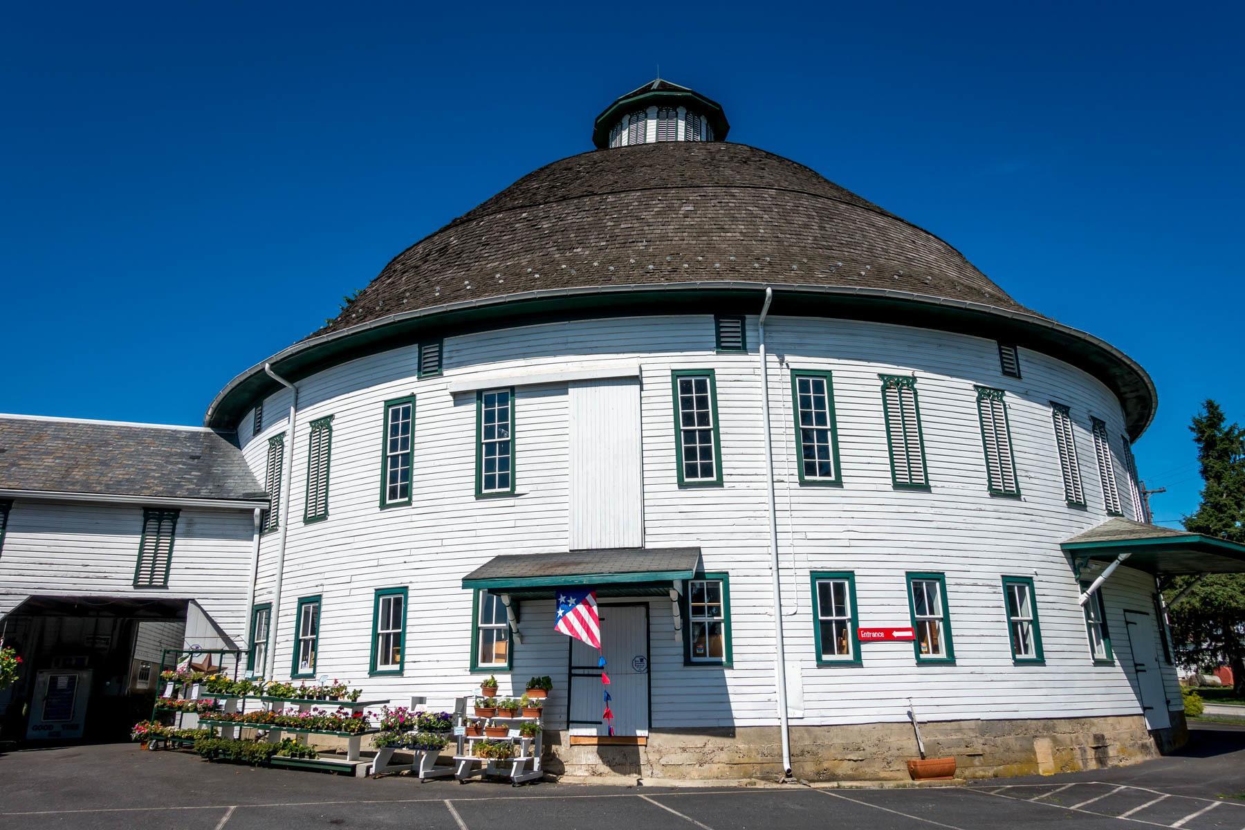 White round barn