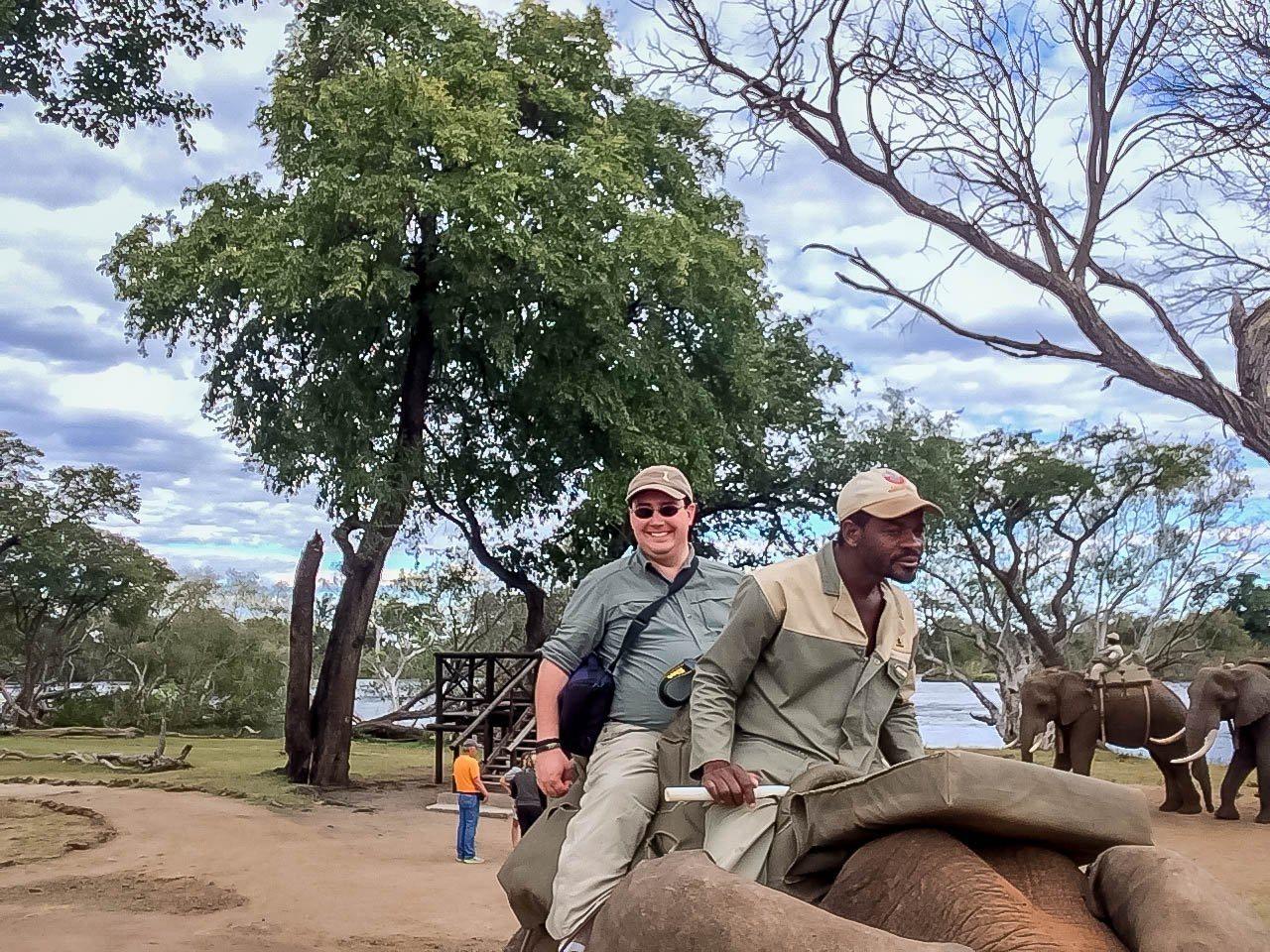 People on elephant back