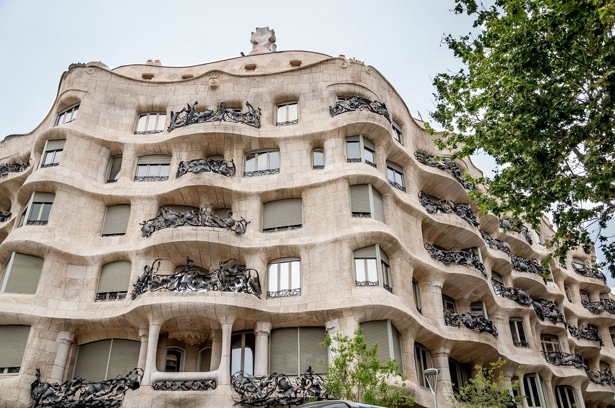 One of Gaudi's most famous works, the Casa Mila/La Padrera