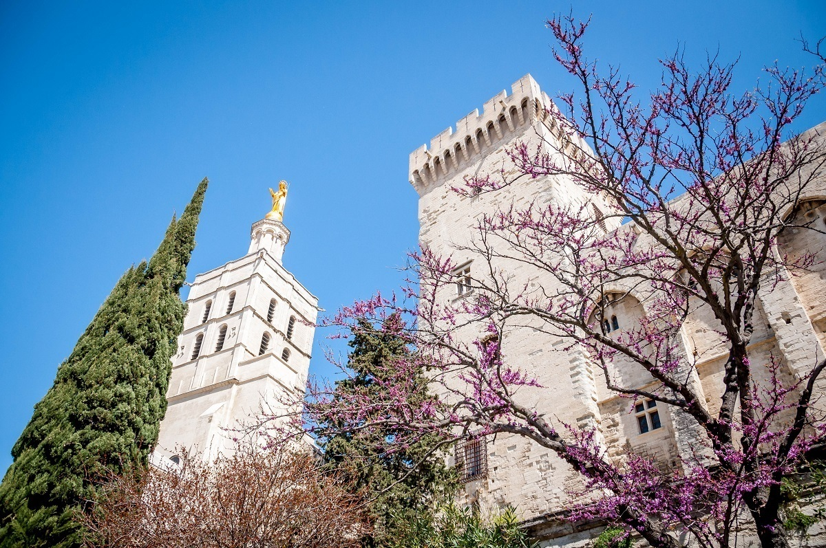 The Palace of the Popes in Avignon, France