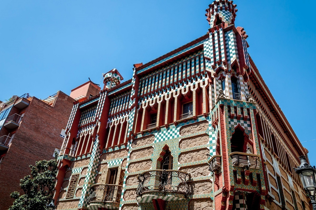 One of earliest works by Antoni Gaudi in Barcelona is the private home of Casa Vicens